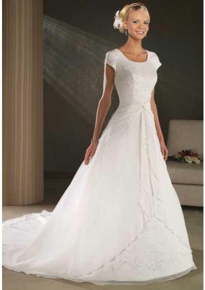 ed27e4ec4fd5b Vestidos de noiva simples bonitos e baratos – Vestidos hermosos y de ...