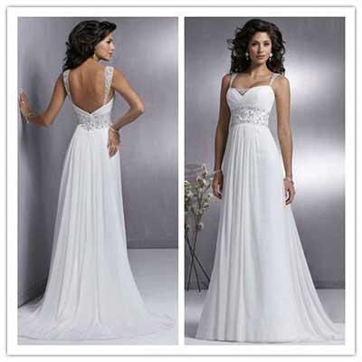 Vestidos de noiva simples(casamento de dia)