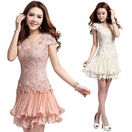 Modelos de Vestido lindo de renda