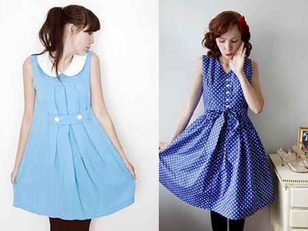 imagens de vestido vintage