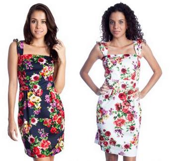 vestido vintage florido
