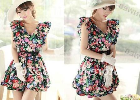 vestido vintage da moda