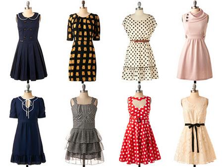 vestido vintage da moda feminina