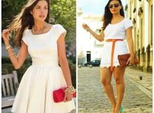 Modelos de Vestidos branco rodado
