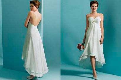 Imagens de Vestidos de noiva curtos e simples da moda