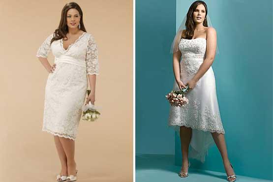 Dicas de Vestidos de noiva curtos plus-size para gordinhas