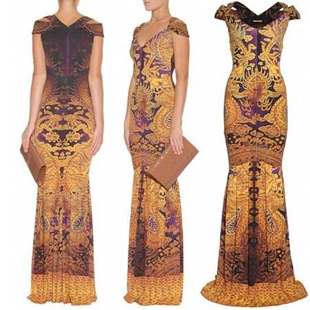 Vestidos curtos com estampas indianas