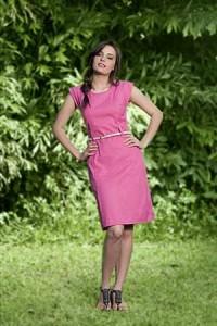 vestidos da moda pink para mulheres