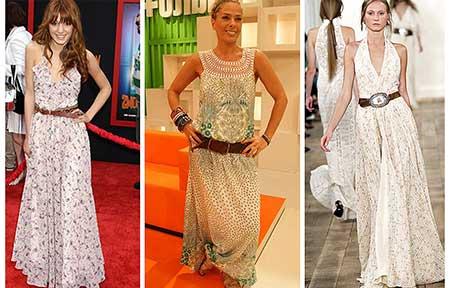 vestidos estampados longos da moda