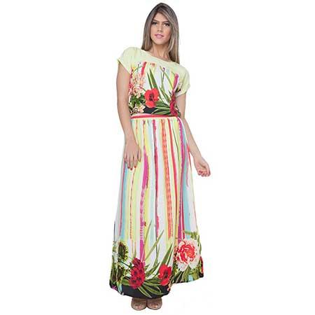 vestidos longos estampados