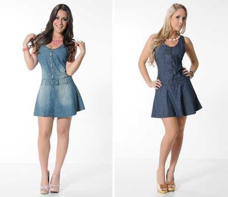 dicas de modelos de vestidos jeans