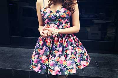 modelos de vestidos florais