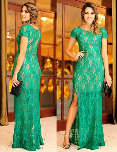 modelos de vestidos verdes