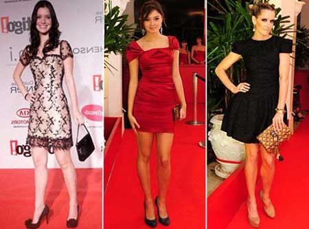 vestidos justos em modelos