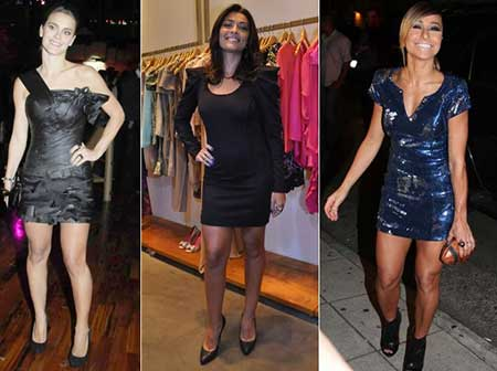 vestidos justos da moda feminina