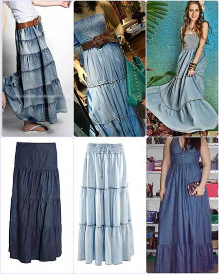 fotos e imagens de modelos de vestidos jeans