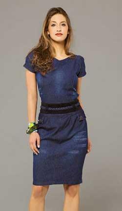 fotos de modelos de vestidos jeans