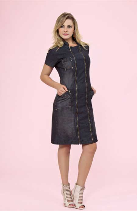 imagens de vestidos jeans