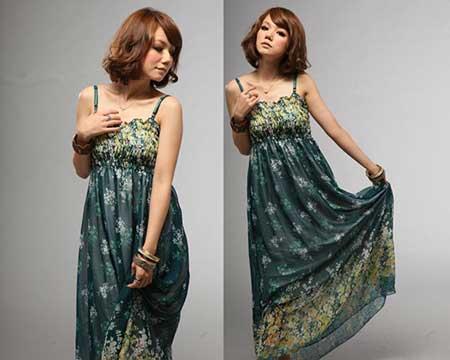 fotos de vestidos longos estampados da moda