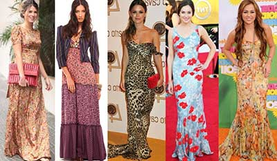 moda em vestidos floridos