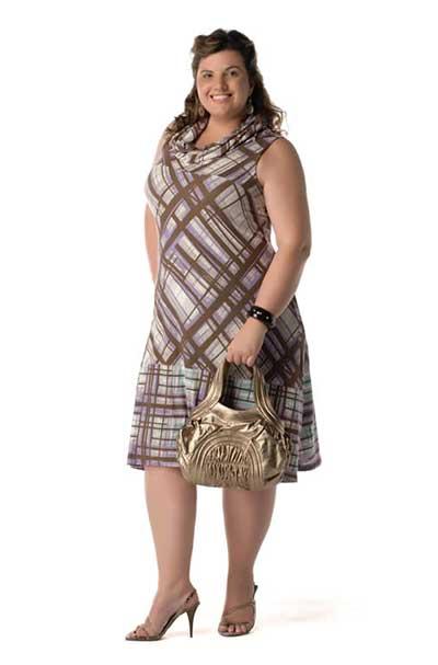 vestidos xadrez para gordinhas