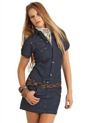 dicas de vestidos jeans