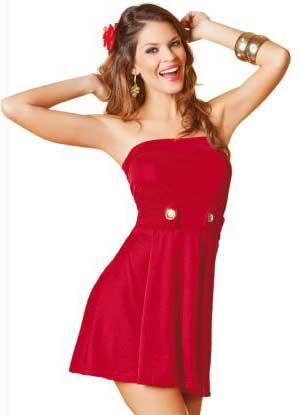 sugestões de vestidos vermelhos