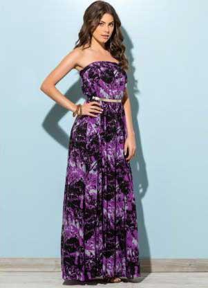 modelos longos de vestidos