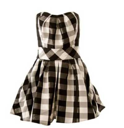 vestidos xadrez da moda feminina