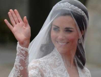 Kate Middleton dando tchau