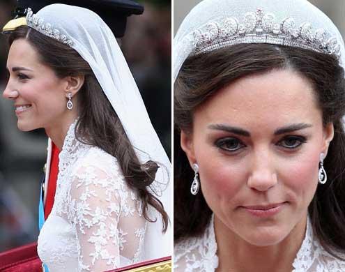 Kate Middleton no seu casamento