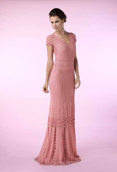 modelos de vestido de croché