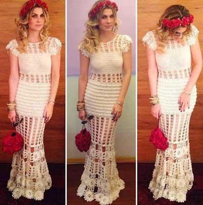 fotos de vestido de croché