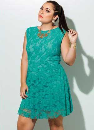 fotos de modelos de vestidos plus size