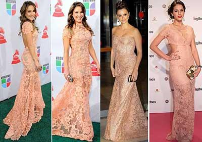 dicas de vestidos de renda de várias cores
