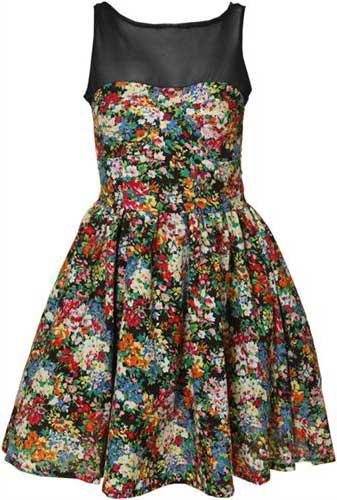 4a4797ccbf 80 Modelos de Vestidos Floridos Curtos e Longos Festas
