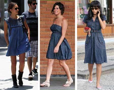 modelos de vestidos jeans