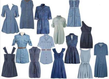Como Usar Vestidos Jeans Curtos, Médios e Longos da Moda