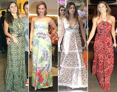 dicas de vestidos longos estampados
