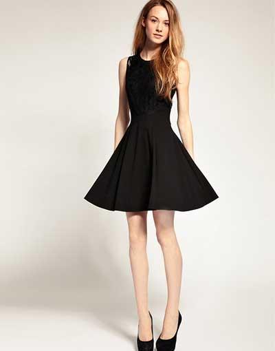 Comprar vestido preto rodado