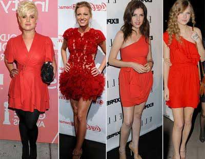imagens de modelos de vestidos vermelhos
