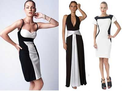 imagens de vestidos preto e branco