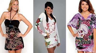 modelos de vestidos Ed Hardy