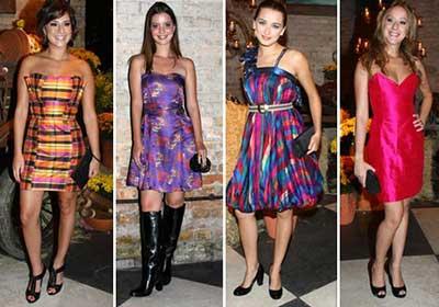 modelos de vestidos curtos de festa