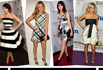 modelos de vestidos preto e branco