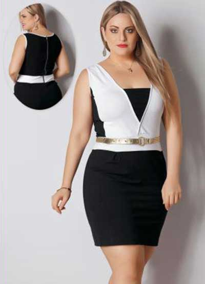 vestidos preto e branco