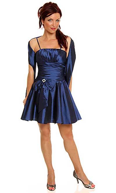 Vestido de festa curto cor azul