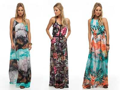 Vestidos longos estampados lojas marisa