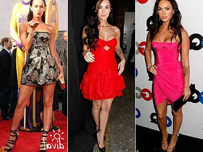 imagens de vestidos da Megan Fox