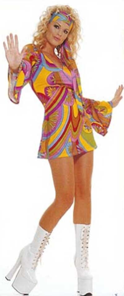 dicas de vestidos anos 70